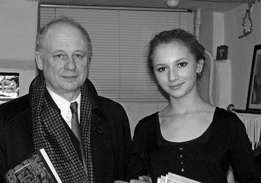 А. Толубеев с дочерью Надей в редакции «ПТЖ». Фото М. Дмитревской