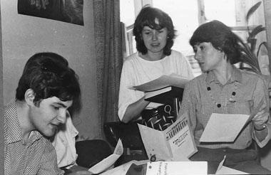 Л. Попов, И. Бойкова, И. Маликова, М. Дмитревская. 1989. Фото из архива М. Дмитревской