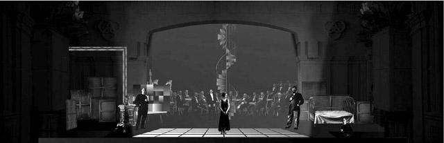 Эскиз кспектаклю «Богема».  Театр «Зазеркалье»