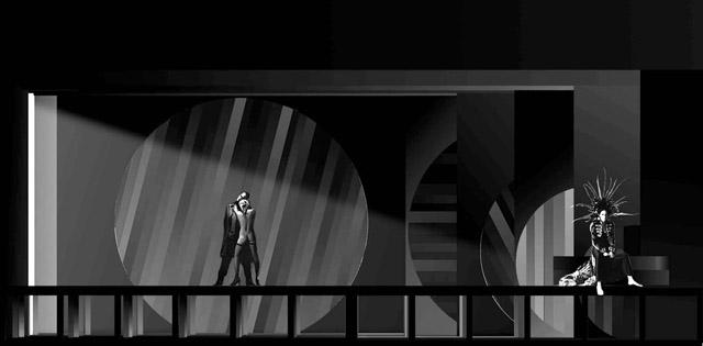 Эскиз кспектаклю «Маленькие трагедии». Театр «Глобус» (Новосибирск)