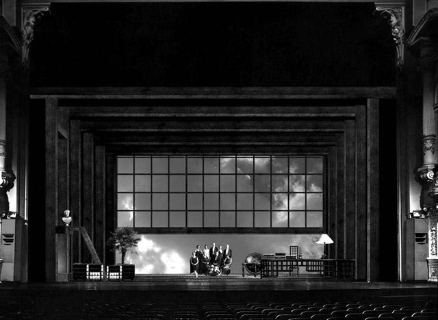 Эскиз кспектаклю «Перед заходом солнца». БДТ им. Г.А.Товстоногова