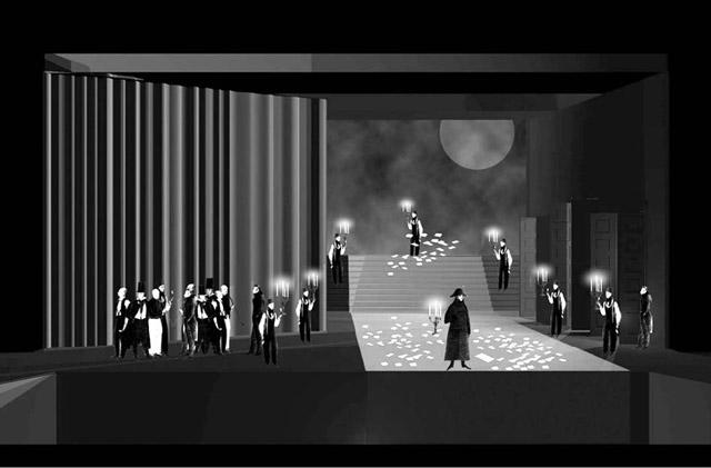 Эскизы кспектаклю «Пиковая дама».  Мариинский театр