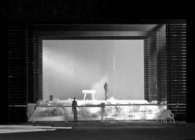 Эскиз кспектаклю «Месяц вдеревне».  БДТ им. Г.А.Товстоногова