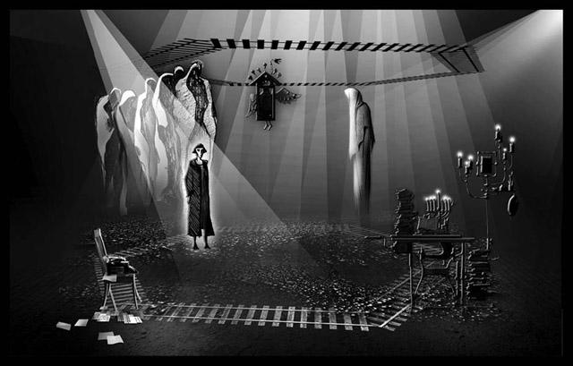 Эскизы кспектаклю «Даниэль Штайн, переводчик»