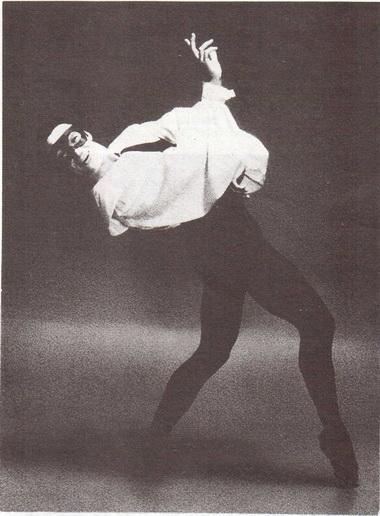 В. Панов (Арлекин). «Арлекинада». Нью-Йорк, конец 1970-х г.г. Фото М. Владимана
