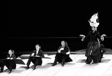 Сценаизспектакля «ШутБалакирев». РусскийдраматическийтеатрЛитвы. Фотоизархивафестиваля