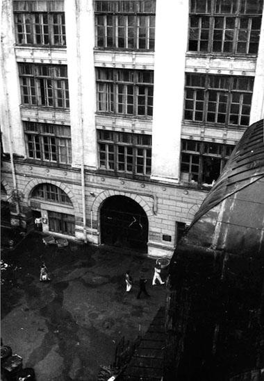 Двор театроведческого факультета ЛГИТМиК (бывш.Тенишевскоеучилище). 1980-е. Фотоизархиваредакции