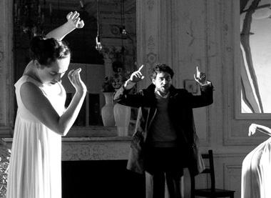 Н.Толубеева (муза Виттенберга), В.Коробицин (Гамлет). «Гамлет. Начало». ФотоО.Оловянниковой