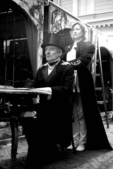 Н.Мартон (Аблеухов-старший), Т.Кулиш (Шишнарфне). «Петербург». Фотоизархива театра