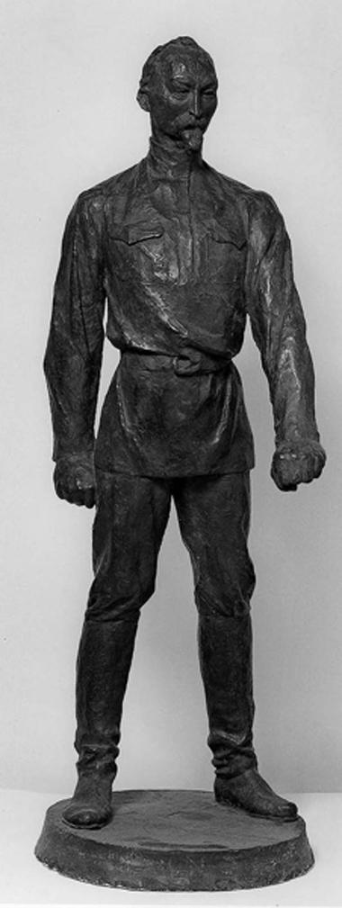 Ф.Дзержинский. Фрагмент проекта памятника. Гипс тонированный.1940. Фото М. Стекольниковой