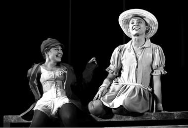 А.Арефьева (Джульетта), И.Дель (Ромео). Фото Ю. Белинского
