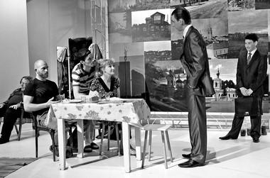 Сцена изспектакля «Экспонаты». ФотоВ.Луповского