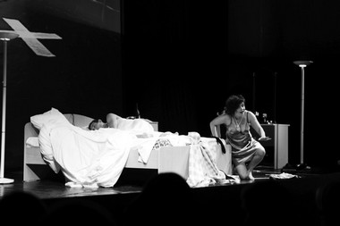 Сцена изспектакля «Жалость». Проект «Ph6». Тампере (Финляндия). Фото изархива фестиваля
