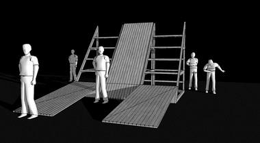 Эскизы кспектаклю «Одиннадцатая заповедь» помотивам пьесы «Фуэнте овехуна»