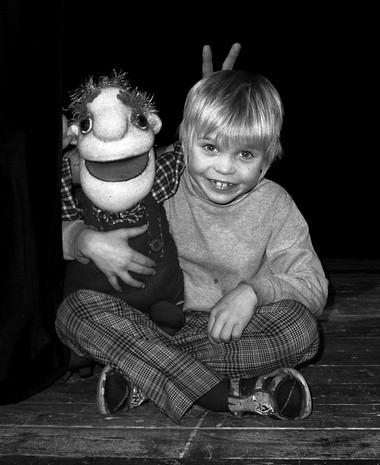 «Мой Карлссон». Зритель скуклой. Фото изархива театра
