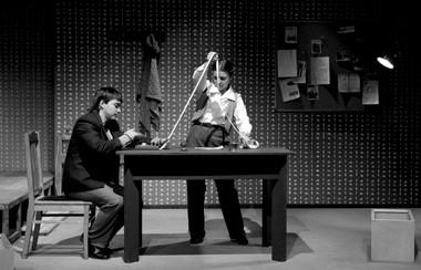 А.Архипов (Гек), М.Кондратьева (Чук). «Чук иГек». Фото В. Дубровского