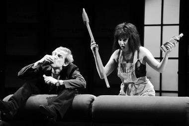 С.Пронин (Ллойд Даллас), Е.Александрова (Белинда Блеяр). «Шум засценой». ФотоВ.Гордта