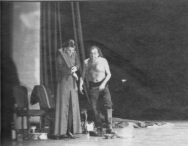 П. фон дер Беек (Леди Макбет) иФ.Шедиви (Макбет). Фото М. Кёссмайера