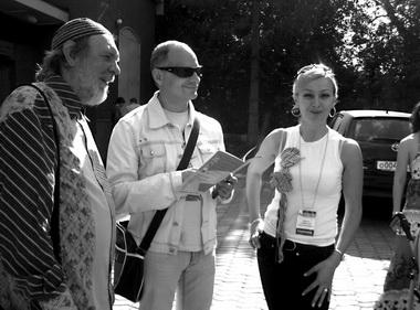«Реальный театр»-2009. О.Лоевский, Р. Должанский, М.Авимская. Фото П. Зобнина