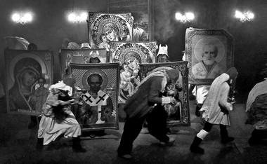 «Борис Годунов». Сцена изспектакля.  Фото В. Луповского