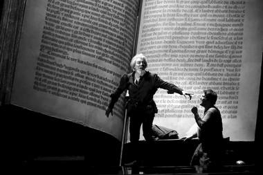 Ф.Фурланетто (Дон Кихот), А.Серов (Санчо Панса).  Фото Н. Разиной