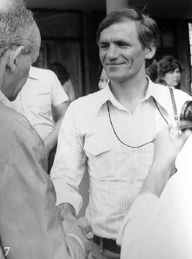 Встреча сБ.Окуджавой в1979г.  Фото изархива режиссера