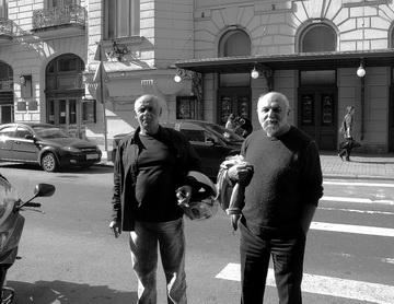 Л.Эренбург иК.Гинкас. Фото М. Дмитревской