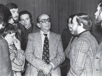 Г.Товстоногов среди студентов. 1960-е. Фото изархива редакции