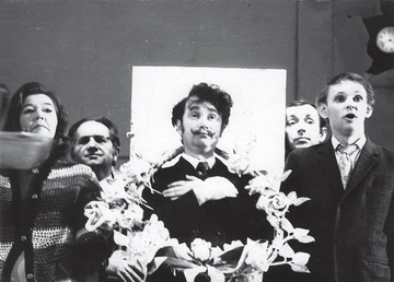 Сцена изспектакля «Монолог обраке». Фото изархива К.Гинкаса.