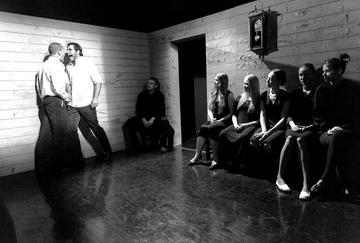 «МЫкарамазоВы». Сцена изспектакля. Школа-студия МХАТ. Фото Д. Мороза