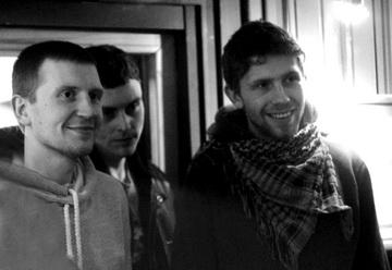 Актерская компания: А.Папанин, Е. Антонов, Ф.Дьячков. Фото изархива театра