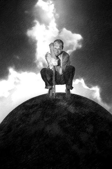 Д.Слингер (Просперо). Постер кспектаклю «Буря». Фото изархива театра