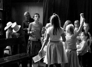 Мастер-класс вКрасноярском ТЮЗе. Фото А. Зыковой