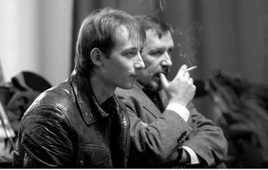 Т.Кулябин, А. Кулябин нарепетиции спектакля «Пиковая дама». 2007г. Фото изархива театра