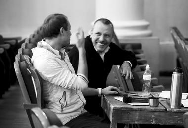 Т.Кулябин, А. Кулябин нарепетиции «KILL». 2013г. Фото изархива театра