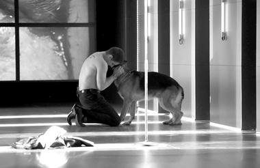 П.Поляков (фон Вальтер), Хабар (собака президента). Фото В. Дмитриева