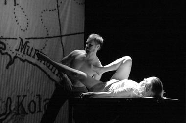 И.Сверриссон (Харольд), И.Холтен Ворсе (Елена). «Граница». Фото А. Горенкова