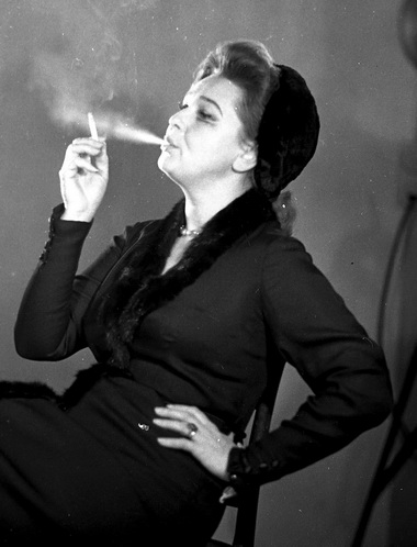 Н.Ольхина (Дама). «Два театра». 1969г. Фото изархива БДТ им. Г.А.Товстоногова