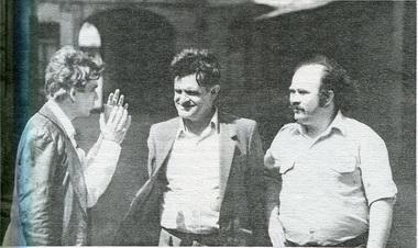 В.Малыщицкий, Ф. Искандер, А.Бороусов, Фото изархива А.Бороусова