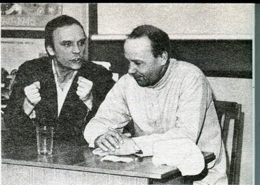Артисты Ю. Овсянко иЕ.Меркурьев нарепетиции. Фото изархива театра