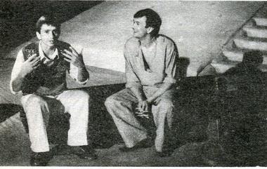 А.Петров (Борис) иС.Кошонин (Кудряш). «Гроза». Фото Ю. Богатырева
