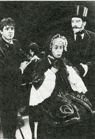Л.Пыжова (Бабушка), Е.Иванов (Алексей Иванович), В.Москалев (Генерал). «Игрок»