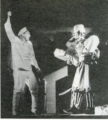 «Сказка обеглом солдате ичёрте». Сцена изспектакля. Фото изархива театра