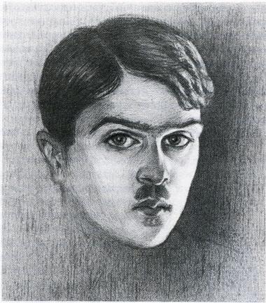 М.А. Григорьев. Автопортрет. Приблизительно 1918г.