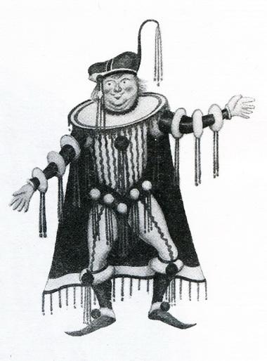 Эскиз костюма кспектаклю «Зеленая птичка» (ТЮЗ, 1935г.)