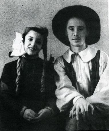 М. Забулис (Яло) иБ.Самошин (Бар). «Королевство кривых зеркал». Грозный. 1953г.